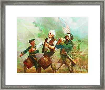 Revisiting The Spirit Of 76 20150704 Framed Print by Wingsdomain Art and Photography