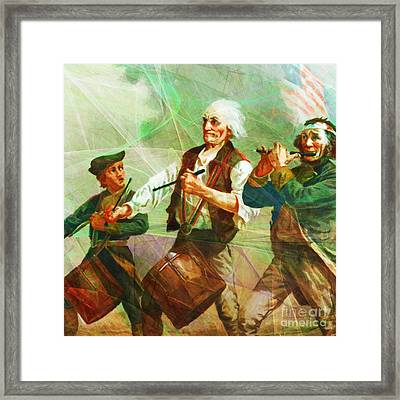 Revisiting The Spirit Of 76 20150704square Framed Print by Wingsdomain Art and Photography