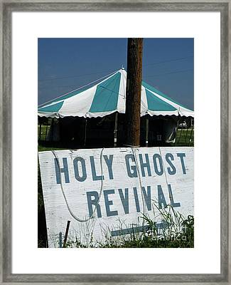 Framed Print featuring the photograph Revival Tent by Joe Jake Pratt