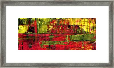 Summer Rain  - Abstract Colorful Mixed Media Painting Framed Print by Modern Art Prints
