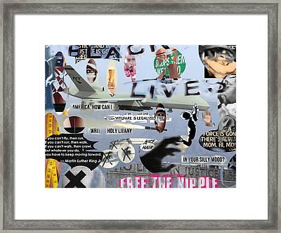 Revolution Framed Print by Olivia Baldacci