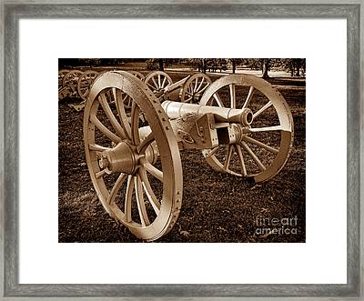 Revolutionary Cannon Framed Print by Olivier Le Queinec