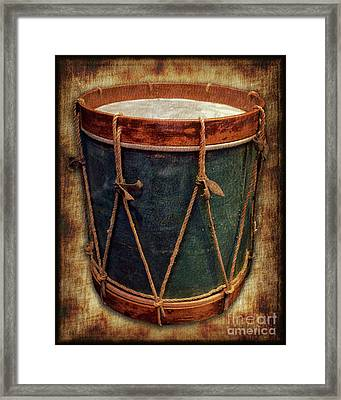 Revolutionary Drum Framed Print
