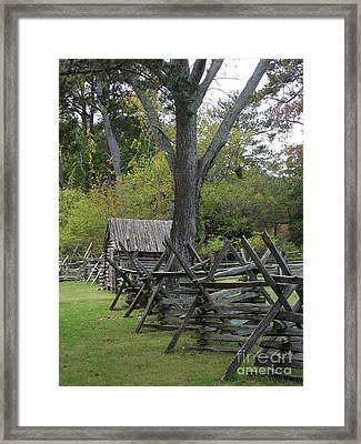 Revolutionary Fencing Framed Print by Skip Willits