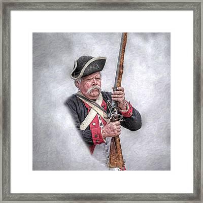 Revolutionary War American Soldier Framed Print by Randy Steele