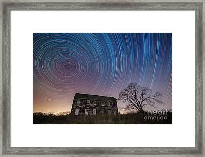 Revolutionary War House Star Trails Framed Print