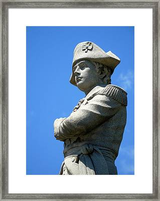Revolutionary War Soldier Framed Print by Susan Lafleur