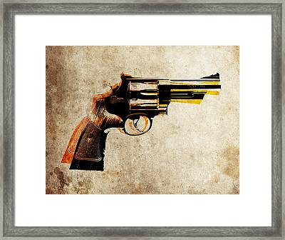 Revolver Framed Print by Michael Tompsett