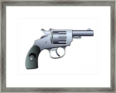 Revolver Framed Print by Michal Boubin