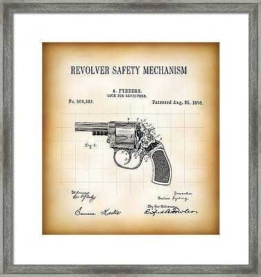 Revolver Safety Mechanism Patent  1896 Framed Print