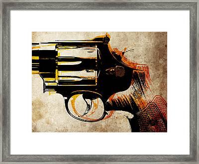 Revolver Trigger Framed Print by Michael Tompsett