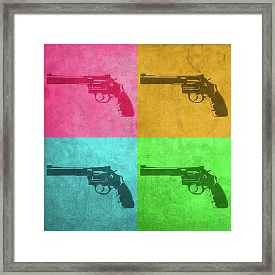Revolver Vintage Pop Art Framed Print by Design Turnpike