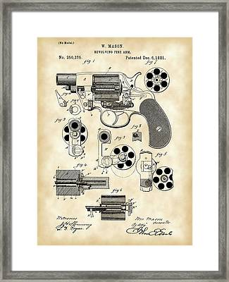 Revolving Fire Arm Patent 1881 - Vintage Framed Print