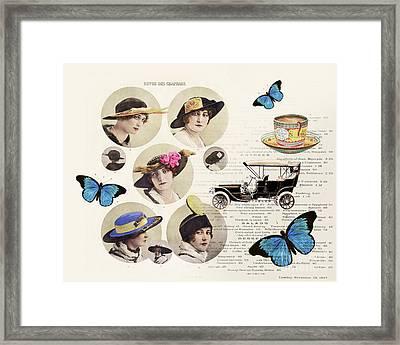 Revue Des Chapeaux Framed Print by Delphimages Photo Creations