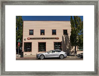 Rex Hardware And Country Store In Petaluma California Usa Dsc3826 Framed Print by Wingsdomain Art and Photography