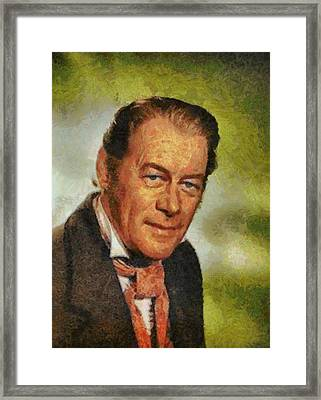 Rex Harrison Hollywood Actor Framed Print by John Springfield
