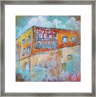 Rex Hotel Framed Print by Sara Zimmerman
