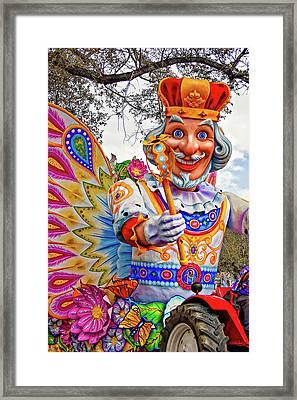 Rex Rides In New Orleans Framed Print by Steve Harrington