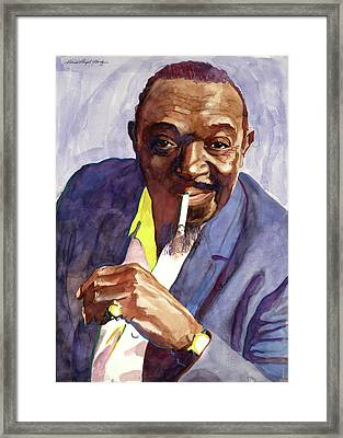 Rex Stewart Jazz Man Framed Print by David Lloyd Glover