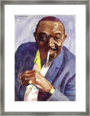 Rex Stewart Jazz Man Framed Print by David Lloyd Glover