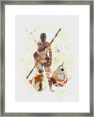 Rey And Bb8 Framed Print by Rebecca Jenkins