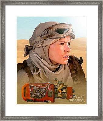 Rey Framed Print by Paul Tagliamonte