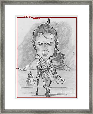 Rey The Force Awakens Framed Print by Chris DelVecchio