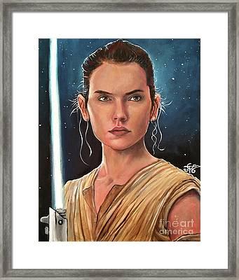 Rey Framed Print by Tom Carlton