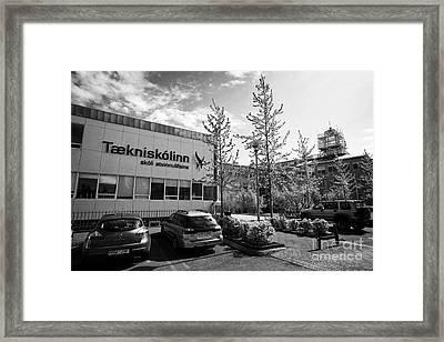 Reykjavik Technical College Taekniskolinn Iceland Framed Print by Joe Fox