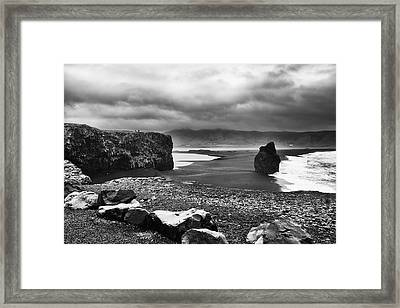 Framed Print featuring the photograph Reynisfjara by Wade Courtney
