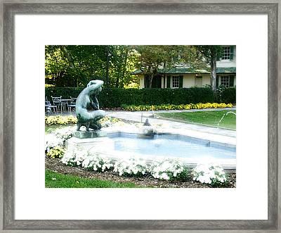 Reynolda Fountain Framed Print by Scarlett Royal