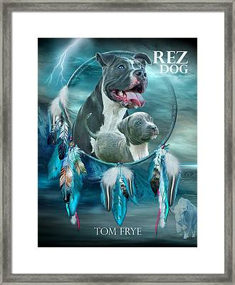 Rez Dog Cover Art Framed Print by Carol Cavalaris