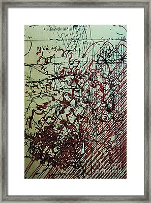 Framed Print featuring the drawing Rfb0204 by Robert F Battles