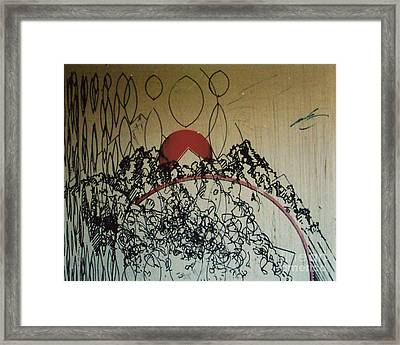 Framed Print featuring the drawing Rfb0208-2 by Robert F Battles