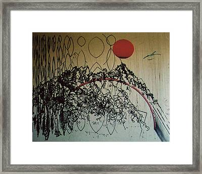 Framed Print featuring the drawing Rfb0208 by Robert F Battles