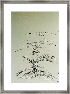 Framed Print featuring the drawing Rfb0209-2 by Robert F Battles