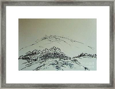 Framed Print featuring the drawing Rfb0211-2 by Robert F Battles