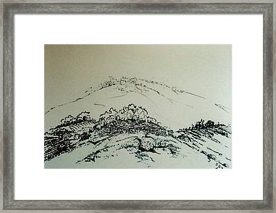 Framed Print featuring the drawing Rfb0211 by Robert F Battles