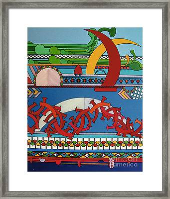 Framed Print featuring the drawing Rfb0403 by Robert F Battles