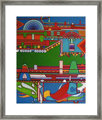 Framed Print featuring the drawing Rfb0404 by Robert F Battles
