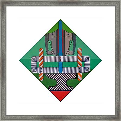 Framed Print featuring the drawing Rfb0900 by Robert F Battles