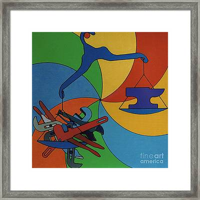 Framed Print featuring the drawing Rfb0924 by Robert F Battles