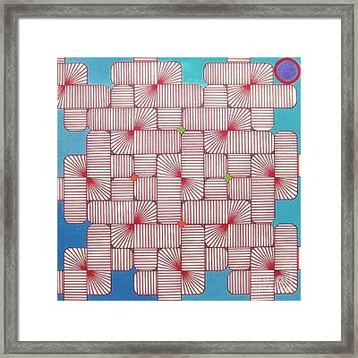 Rfb1006 Variation IIi Diagonal Framed Print by Robert F Battles
