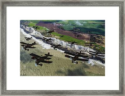 Rfc Se5 Deploys Tp Frane 1917 - Oil Framed Print by Tommy Anderson