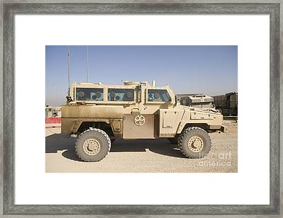 Rg-31 Nyala Armored Vehicle Framed Print by Terry Moore