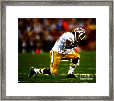 Rg3 - Tebowing Framed Print by Paul Ward