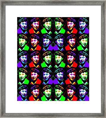 Framed Print featuring the digital art Rgb Geometry by Lindie Racz and Yury Yanin