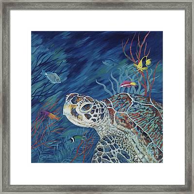Rhapsody In Blue Framed Print by Danielle  Perry