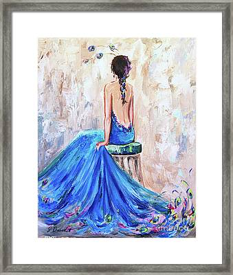 Framed Print featuring the painting Rhapsody In Blue by Jennifer Beaudet