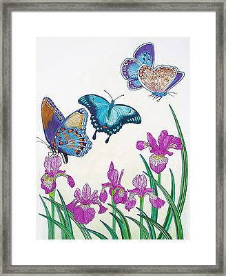Rhapsody In Blue Framed Print by Vlasta Smola